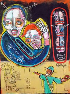 Endless War and Occupation Days In July, July 1, 31 Days, St Pierre, Neo Expressionism, Art Brut, Outsider Art, The Outsiders, Street Art