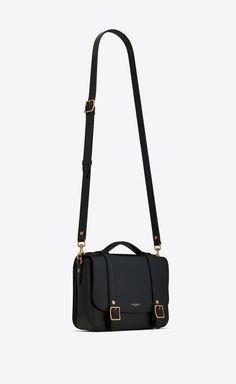 Saint Laurent SCHOOLBAG Mini Satchel In Shiny Leather   YSL.com Fashion Handbags, Purses And Handbags, Fashion Bags, Sac Yves Saint Laurent, Saint Laurent Handbags, Ysl Purse, Sacs Design, Cuir Vintage, Luxury Purses