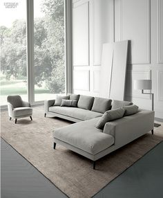 The Year in Seating: 75 New Chairs, Sofas, Stools and More - Furniture Grey Sectional Sofa, Corner Sofa Set, House Interior, Modern Sofa, Sofa Furniture, Modular Sofa, Living Room Sofa Design, Sofa Design, Sofa Set Designs