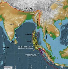 Map of Indian Ocean Earthquakes