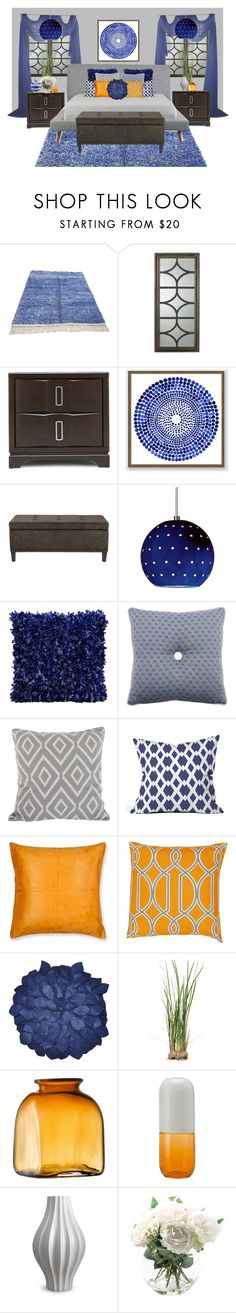 """""""Untitled #385"""" by tujuana ❤ liked on Polyvore featuring interior, interiors, interior design, home, home decor, interior decorating, West Elm, Madison Park, DENY Designs and Madura"""