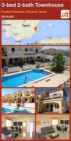 3-bed 2-bath Townhouse in Ciudad Quesada, Alicante, Spain ►€210,000 #PropertyForSaleInSpain