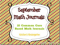 Here's a set of September themed daily math journal prompts to encourage problem solving skills and review math objectives in Kindergarten.