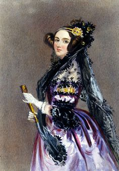 Ada Lovelace, daughter of Lord Byron (only the hottest Romantic poet ever), is credited with writing the first computer program.