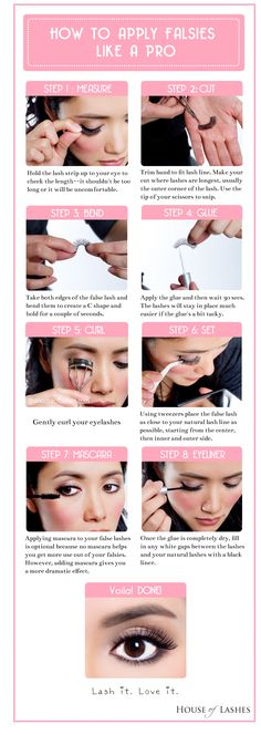 How to apply false lashes properly! I apply eyeliner FIRST... But to each their own ;)