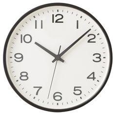 Analogue Clock - Large - Black