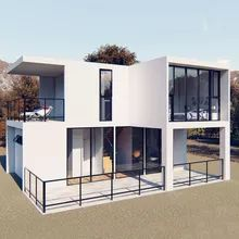 [Hot Item] Modular Prefab Luxury Container House/Container Living Homes Villa/Resort Cheap Prefab Homes, Prefab Homes For Sale, Cement House, Kiosk Design, Prefabricated Houses, Residential Construction, Roof Panels, Resort Villa, Steel House