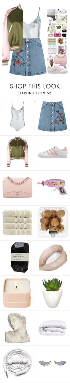 """""""god knows I tried"""" by lanadelnotyou ❤ liked on Polyvore featuring Topshop, Miss Selfridge, Alexander McQueen, adidas Originals, Chanel, Skinnydip, Christy, Cassia, Henri Bendel and Pomax"""