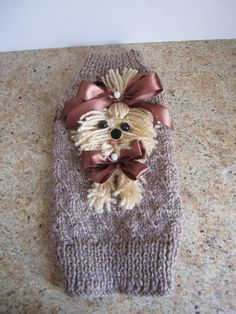 Dog Sweater Yorkie Beige By Nina's Couture by NinasCoutureCloset