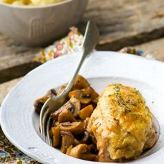 Marinated Chicken Breast With Mushrooms
