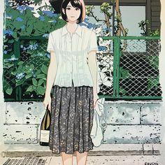 いいね!2,116件、コメント11件 ― 江口寿史 egutihisasiさん(@egutihisasi)のInstagramアカウント: 「さるワイン誌の表紙の、初出の時は〆切りに間に合わなくて背景シロクロのまま出しちゃったやつ。カレンダーにするんでゆうべから色塗りし直してるんですが……。まだ終わらない……。この歳になって徹夜はもうキツイっすね……(ちょっと寝たけど)」 Cute Girl Drawing, Manga Art, Girl Power, Fashion Art, Illustrators, Cute Girls, Cool Art, Illustration Art, Character Design