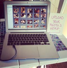 Make it easy for your guests to give you their wedding pics with a photo uploading station