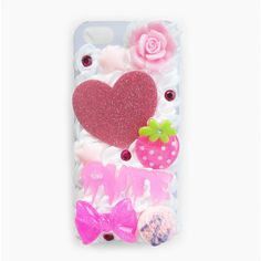 Sweet Heart Case for iPhone 4/4s ($33) ❤ liked on Polyvore featuring accessories, tech accessories, phone and phone case