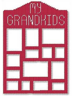 My Grandkids Frame Plastic Canvas Pattern Download from e-PatternsCentral.com -- Any grandparent would be proud to display his or her grandchildren's photos in this frame.