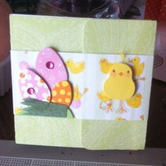 Matchbook mini album...3x3.  I made it for one of the mom's that wasn't in time to watch the kids hunt for Easter eggs.