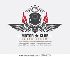 motor logo graphic design. logo, Sticker, label, arm - stock vector