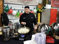 Buehler's catering chef making pasta at the pasta station at a recent catering event. Party Trays, Catering Menu, Entrees, Pasta, Fresh, Food, Party Platters, Meal, Essen