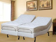 Queen Size Pursuit 10 in. Latex Mattress Adjustable Bed Massage Wallhugger Wireless Remote by Atlantic Beds. $3049.00. Natural Latex Mattress with Leggett & Platt Adjustable Beds Prodigy