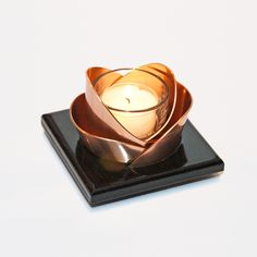 Wenge and copper candleholders - nice stuff from NWCopper Candles!!
