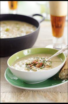 Irish Potato Soup with Cheese and Red Ale    Read more: http://relish.com/recipes/irish-potato-soup-with-cheese-and-red-ale/#ixzz2NTmFWfjo