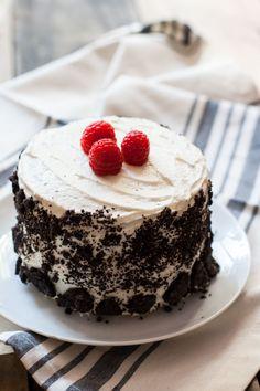 This vegan vanilla, raspberry, & Oreo cake recipe is perfect for a birthday celebration. Easy & delicious.