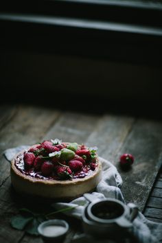 Strawberry Balsamic Creme Fraîche Cheesecake by Eva Kosmas Flores | Adventures in Cooking