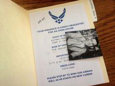 Affichomanie: Air Force Going Away Party: Invitations