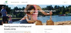 Countdown Timer to end of offer on Center Parcs homepage #Web #Digital #Online #Marketing #Travel #Holiday #Hotel #CountdownTimer