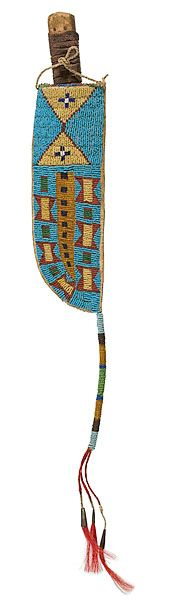 Wind River Shoshone Beaded Hide Knife Sheath - Cowan's Auctions