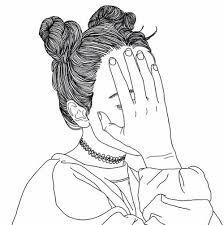 line art drawings Tumblr Outline, Outline Art, Outline Drawings, Cute Drawings, Hand Outline, Tumblr Girl Drawing, Tumblr Drawings, Drawing Girls, Tumblr Png