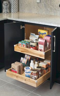 Vintage Kitchen Customize your kitchen cabinet pullouts for strategic and convenient storage that fits your life. Kitchen Cabinet Organization, Kitchen Storage, Cabinet Ideas, Organization Ideas, Custom Kitchen Cabinets, Vintage Kitchen Decor, New Kitchen, Kitchen Ideas, Kitchen Themes