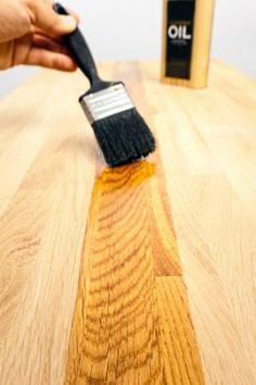 A pure or polymerized tung oil finish is easy to use and will produce beautiful results on any type of wood, inside or out. Diy Wood Projects, Wood Crafts, Diy Crafts, Tung Oil Finish, Wood Oil Finish, Wood Sealer, Paint Furniture, Furniture Refinishing, House Furniture