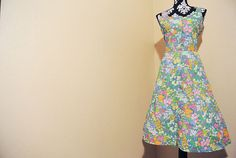 Vintage Floral Full Skirt Housewife/Garden by MidCenturyShoppe, $38.00