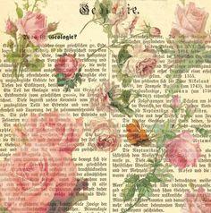 44 Ideas For Vintage Paper Printable Decoupage Pink Roses Decoupage Vintage, Vintage Diy, Vintage Rosen, Images Vintage, Vintage Labels, Vintage Ephemera, Vintage Paper, Vintage Cards, Vintage Country