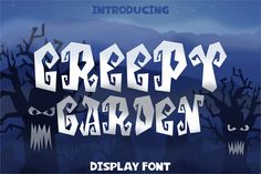 Creepy Garden Font is a little bit creepy font suitable to halloween theme prints. Creepy Garden Font can be used for personal or commercial projects, in Halloween Fonts, Halloween Themes, Garden Font, Cute Fonts, Awesome Fonts, Free Fonts Download, Font Free, Font Names, Modern Fonts