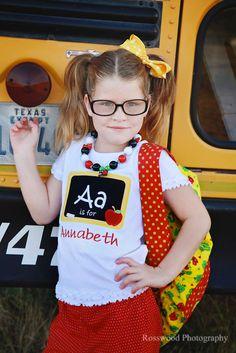 Personalized Chalk Board Applique Shirt AZ by boutiquesewunique, $23.00