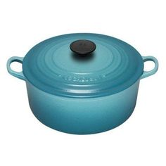 Not sure I need this as I don't do much cooking over an open flame, and already have an All-Clad stockpot ... but this is the Le Creuset color I'm collecting and I want more!