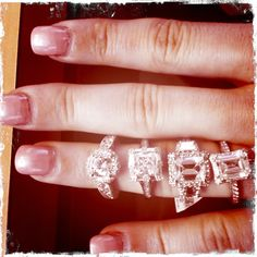 Having fun with our Tacori engagement rings!