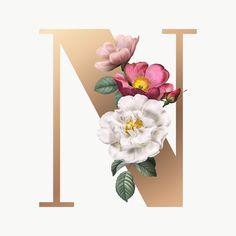 Floral Font, Deco Floral, Floral Letters, Monogram Letters, Flower Phone Wallpaper, Cute Wallpaper Backgrounds, Flower Backgrounds, Cute Wallpapers, Alphabet Capital Letters