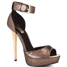 Adjule Bronze Shoes Heels