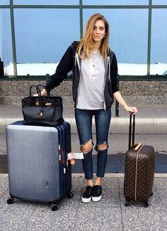 Chiara Ferragni airport casual style