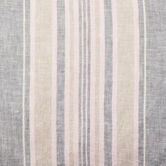 Crafted of touchably soft gray linen with pink and brown stripes, this wonderfully textural pillow tops the bed with a casual, lived-in feel. Pillow Texture, Touch, Pillows, Gray, Chair, Throw Pillow, Chairs, Cushions, Grey