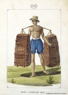 Indio vendiendo leña. Lozano, José Honorato 1821- — Dibujo — 1847