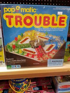 The original classic Trouble game.