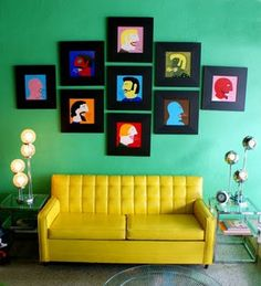 Yellow Couch by Jessie {my mod style}, via Flickr