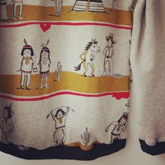 Indianer ! Langarmshirt mit Lillestoff bei www.schneeweisschen-rosarot.de