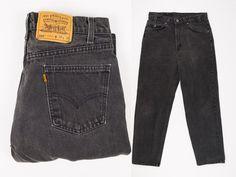 a1a932b0 Size 32 Levis 550 Jeans - 32x30 Black Levi's Jeans - 32W 30L 550 Jeans -  Orange Tab - Relaxed Fit -