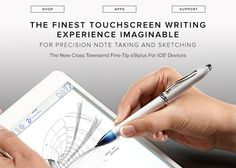 Introducing the Cross Townsend Stylus Collection: Our first multifunction luxury pen.