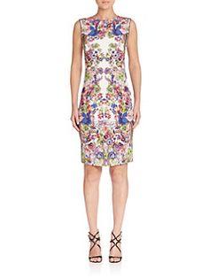 Roberto Cavalli - Printed Jersey Sheath Dress