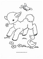 Spring on the farm coloring page!